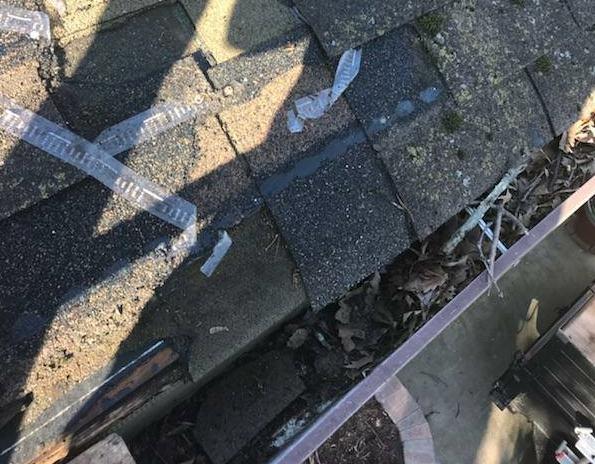 roof gutters damage